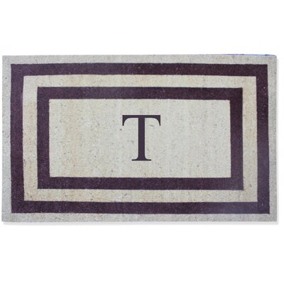 First Impression Engineered Anti Shred Treated Terrance Border Doormat Letter: T