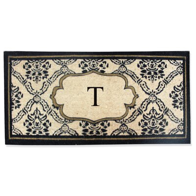 First Impression Engineered Anti Shred Treated Uriel Monogrammed Doormat Letter: T