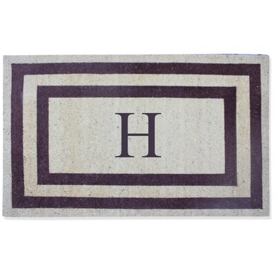 First Impression Engineered Anti Shred Treated Terrance Border Doormat Letter: H