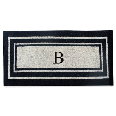 First Impression Westwood Border Monogrammed Doormat Letter: B