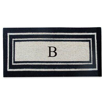 First Impression Westwood Border Monogrammed Doormat Letter: B