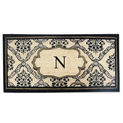 First Impression Engineered Anti Shred Treated Uriel Monogrammed Doormat Letter: N