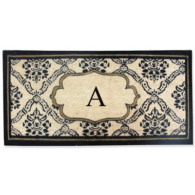 First Impression Engineered Anti Shred Treated Uriel Monogrammed Doormat