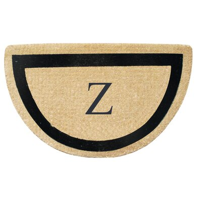 First Impression Engineered Anti Shred Treated Micah Half Round Monogrammed Doormat Letter: Z