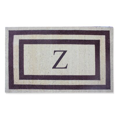First Impression Engineered Anti Shred Treated Terrance Border Doormat Letter: Z