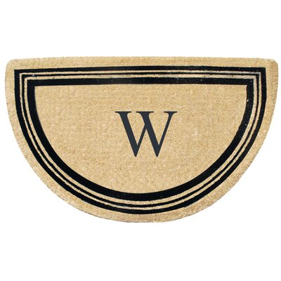 First Impression Engineered Anti Shred Treated Finlay Half Round Monogrammed Doormat Letter: W