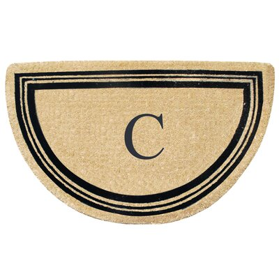 First Impression Engineered Anti Shred Treated Finlay Half Round Monogrammed Doormat Letter: C
