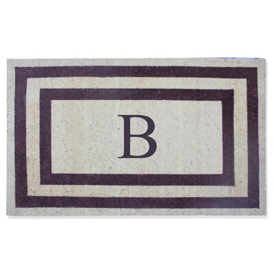 First Impression Engineered Anti Shred Treated Terrance Border Doormat Letter: B