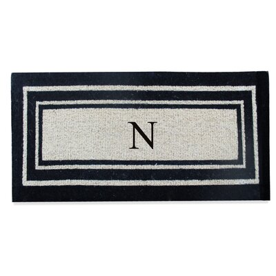 First Impression Westwood Border Monogrammed Doormat Letter: N