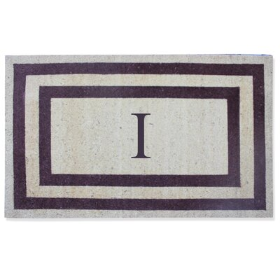 First Impression Engineered Anti Shred Treated Terrance Border Doormat Letter: I
