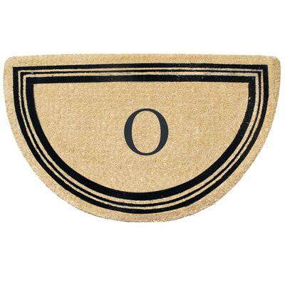 First Impression Engineered Anti Shred Treated Finlay Half Round Monogrammed Doormat Letter: O