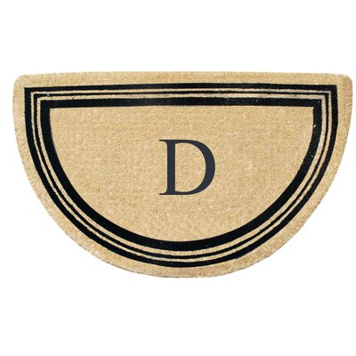 First Impression Engineered Anti Shred Treated Finlay Half Round Monogrammed Doormat Letter: D