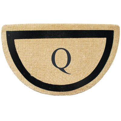 First Impression Engineered Anti Shred Treated Micah Half Round Monogrammed Doormat Letter: Q