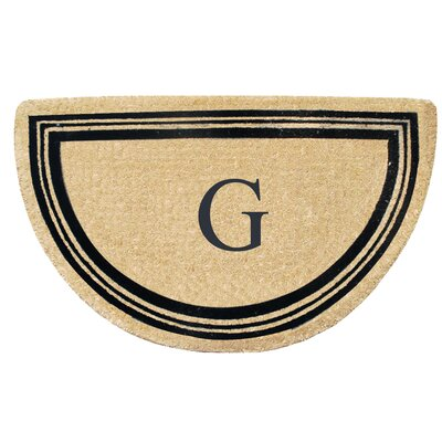 First Impression Engineered Anti Shred Treated Finlay Half Round Monogrammed Doormat Letter: G