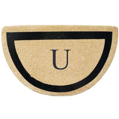 First Impression Engineered Anti Shred Treated Micah Half Round Monogrammed Doormat Letter: U