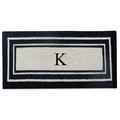 First Impression Westwood Border Monogrammed Doormat Letter: K