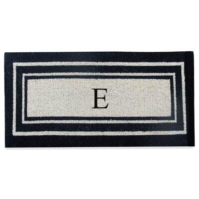 First Impression Westwood Border Monogrammed Doormat Letter: E