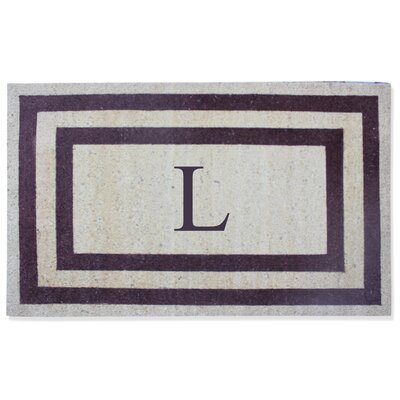 First Impression Engineered Anti Shred Treated Terrance Border Doormat Letter: L