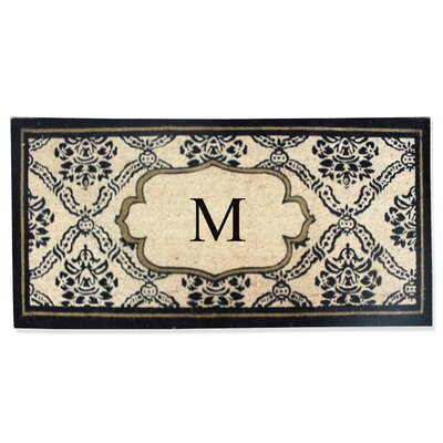 First Impression Engineered Anti Shred Treated Uriel Monogrammed Doormat Letter: M