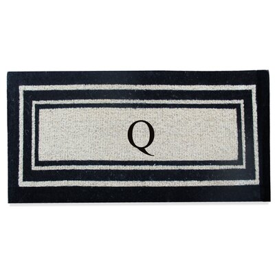 First Impression Westwood Border Monogrammed Doormat Letter: Q