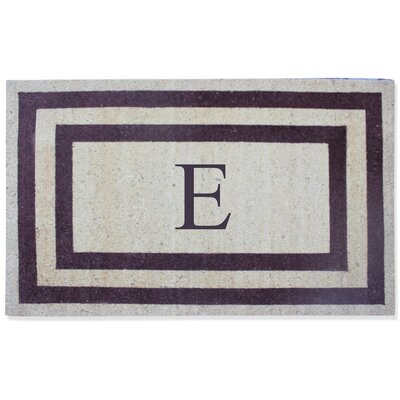 First Impression Engineered Anti Shred Treated Terrance Border Doormat Letter: E