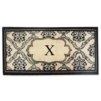 First Impression Engineered Anti Shred Treated Uriel Monogrammed Doormat Letter: X