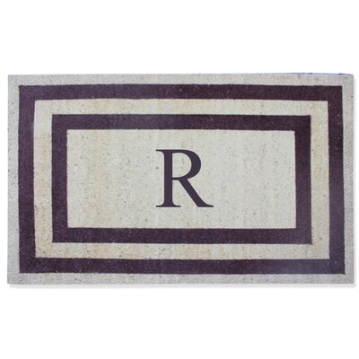 First Impression Engineered Anti Shred Treated Terrance Border Doormat Letter: R