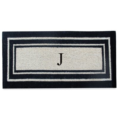 First Impression Westwood Border Monogrammed Doormat Letter: J