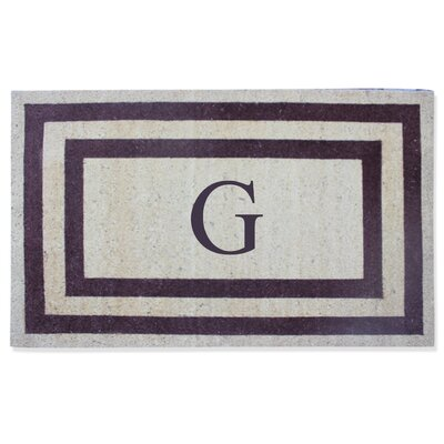 First Impression Engineered Anti Shred Treated Terrance Border Doormat Letter: G