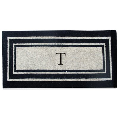 First Impression Westwood Border Monogrammed Doormat Letter: T