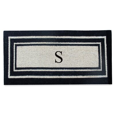 First Impression Westwood Border Monogrammed Doormat Letter: S