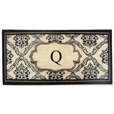 First Impression Engineered Anti Shred Treated Uriel Monogrammed Doormat Letter: Q