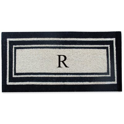 First Impression Westwood Border Monogrammed Doormat Letter: R