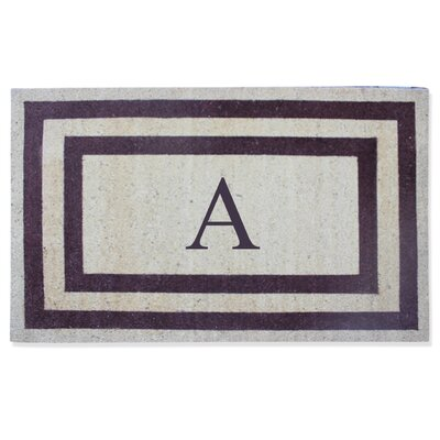 First Impression Engineered Anti Shred Treated Terrance Border Doormat Letter: A