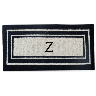 First Impression Westwood Border Monogrammed Doormat Letter: Z