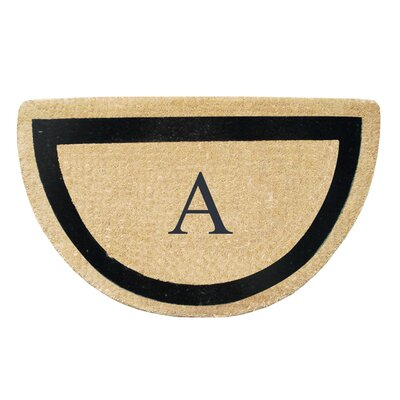 First Impression Engineered Anti Shred Treated Micah Half Round Monogrammed Doormat Letter: A
