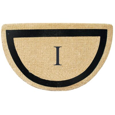 First Impression Engineered Anti Shred Treated Micah Half Round Monogrammed Doormat Letter: I