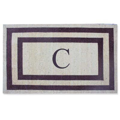 First Impression Engineered Anti Shred Treated Terrance Border Doormat Letter: C
