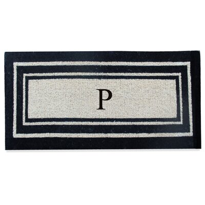 First Impression Westwood Border Monogrammed Doormat Letter: P