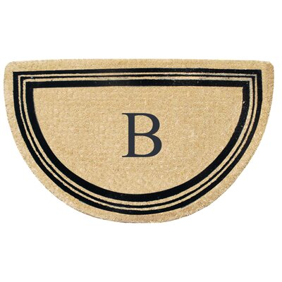 First Impression Engineered Anti Shred Treated Finlay Half Round Monogrammed Doormat Letter: B