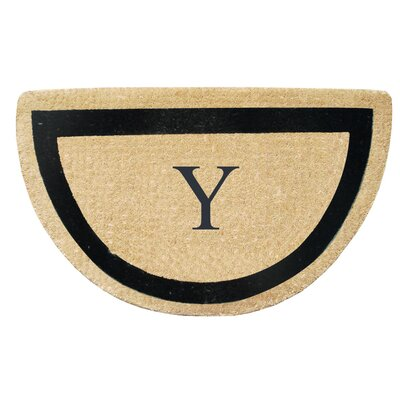 First Impression Engineered Anti Shred Treated Micah Half Round Monogrammed Doormat Letter: Y