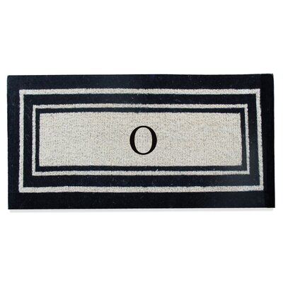 First Impression Westwood Border Monogrammed Doormat Letter: O