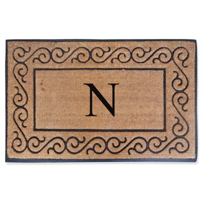 First Impression Monogrammed Double Doormat Letter: N
