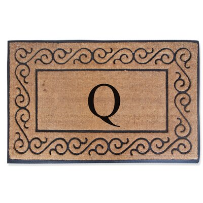 First Impression Monogrammed Double Doormat Letter: Q