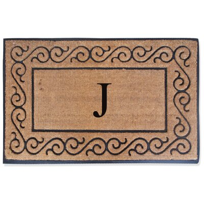 First Impression Monogrammed Double Doormat Letter: J