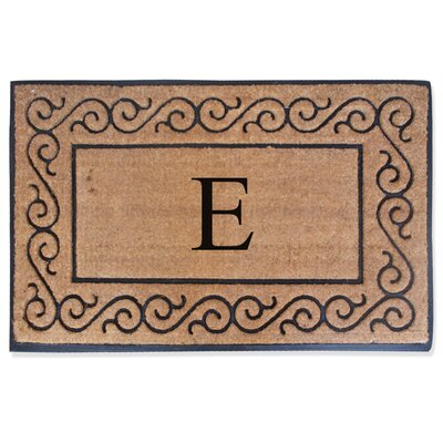 First Impression Monogrammed Double Doormat Letter: E