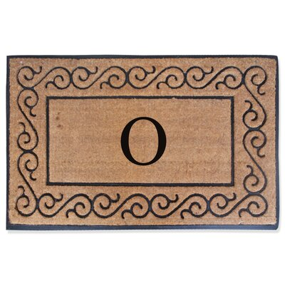 First Impression Monogrammed Double Doormat Letter: O