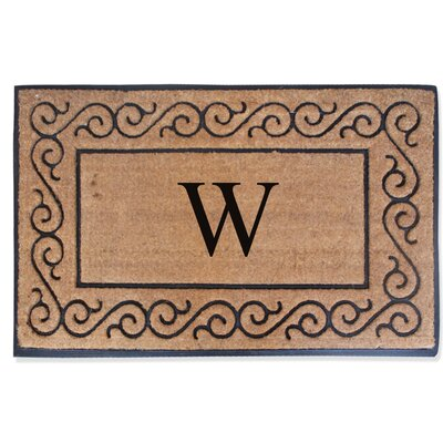 First Impression Monogrammed Double Doormat Letter: W