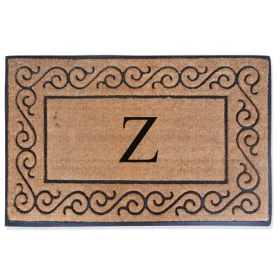 First Impression Monogrammed Double Doormat Letter: Z