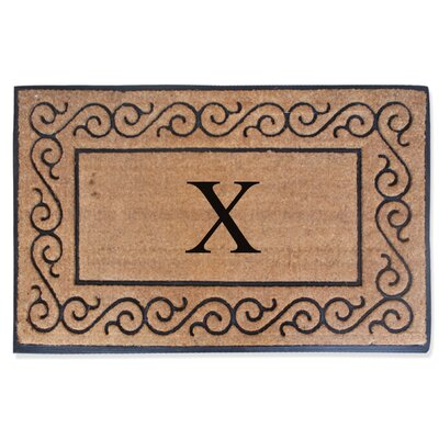 First Impression Monogrammed Double Doormat Letter: X